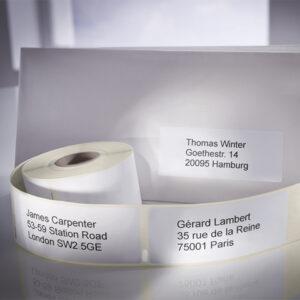 Adresse- og forsendelsesetiketter til etikettskriver