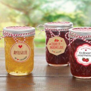 Marmelade etiketter
